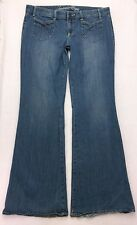 E149 American Eagle Vintage Trouser Bell Bottom Boho Jeans 14 Long MINOR REPAIR