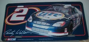 RUSTY WALLACE MILLER LITE 2 METAL LICENSE PLATE BRAND NEW