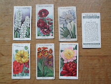 WILLS CIGARETTE CARDS. GARDEN FLOWERS.FAMILY OWNED. GOOD CONDITION.