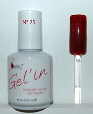 Gel'in soak off color gel polish n°25  MAROON 15ml ( bordeaux irisé )