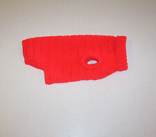 Hand Crochet Red Dog Sweater Small Pet