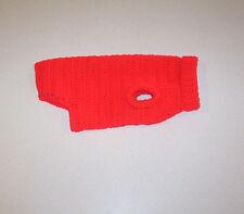 Hand Crochet Red Dog Sweater Small Pet