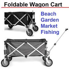 Heavy Duty Folding Wagon Trolley Beach Cart Wheel Pull Wheelbarrow Garden Market