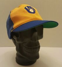Vintage Milwaukee Brewers Snapback Cap MLB Baseball Ball in Glove Logo McDonalds
