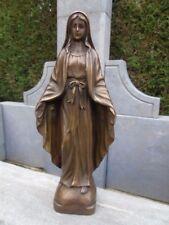 ST VIERGE EN BRONZE , statue maria en bronze pour niche ou potale  .
