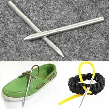 """2x 3"""" Steel Paracord Needle With Screw Thread Shaft Tip Stiching Needle Fid"""