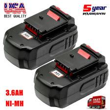 2X3.6Ah for Porter Cable 18V Battery Pc18B Pc188 Pc18Bl Pc18Blx Pcmvc Pcxmvc