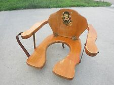 Antique child kids Wooden Toilet Seat collapsible kitten potty baby shower