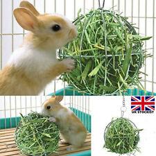 More details for pet rabbit hay manger food feeder grass rack ball guinea pig hamster