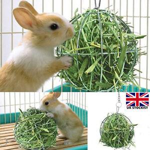 Pet Rabbit Hay Manger Food Feeder Grass Rack Ball Guinea Pig Hamster