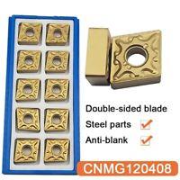 10PCS CNMG432 lathe turning insert CNMG120408-MA coating CVD for steel