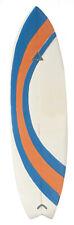 "Surfboard 6¼"" L x 1¾""W White Blue Orange 1:12 Scale Dollhouse Miniature"