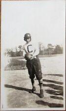 Football Player w/Ball on Field 1920s Photograph Photo - 1