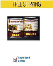 Survival Cave Food 12- 28 oz Can All Natural Meats Beef & Turkey Mix