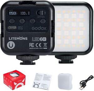 Godox LED 6R RGB Led Video Light 3200K-6500K 360° Full-Color For Video Camera