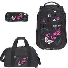 84b91929229ff Schulrucksack Mädchen 3er Set Elephant Rucksack Sporttasche 12679 Butterfly  Pink