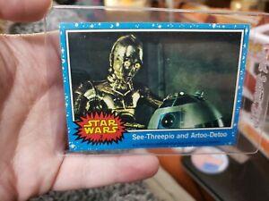 1977 Star Wars#2 See-Threepio and Artoo-Detoo NM  R2-D2 and C-3PO Card