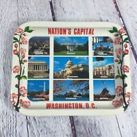 Vintage Washington D.C. Nations Capital Souvenir Trinket Change Metal Tray
