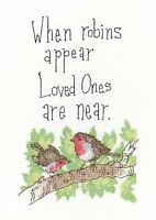 HERITAGE CRAFTS WHEN ROBINS APPEAR COUNTED CROSS STITCH KIT PETER UNDERHILL NEW