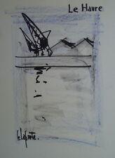 Georges LAPORTE (1926-2000) Technique mixte/papier Le Havre P1809