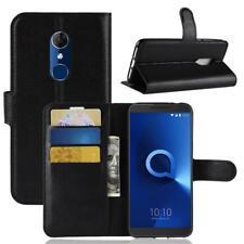 Alcatel 3 Custodia a Portafoglio Protettiva Cover wallet Case Nero