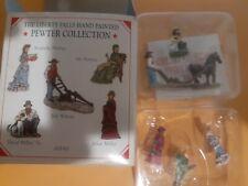 Liberty Falls Ah161 1998 Pewter Miniatures Set Of 5 Accessories