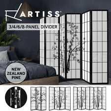 Artiss 3/4/6/8 Panel Room Divider Privacy Screen Bamboo Wooden Dividers Stand