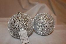 Decoración Árbol Navidad 2 Colgante plata purpurina bola ball Adornos