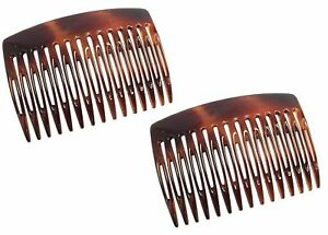 Parcelona French Nice N Simple Shell 2 Pieces Cellulose Side Hair Comb Combs
