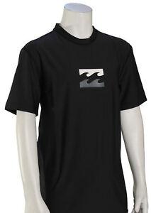 Billabong Boy's All Day Wave SS Surf Shirt - Black / Grey - New