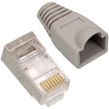 10x RJ45 CAT6 Cable Crimp Connectors - FTP/STP Shielded Network Ethernet Plugs