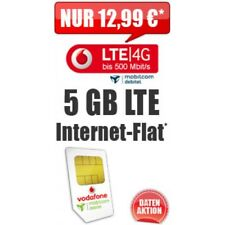 GÜNSTIGE Internet-Flat/Daten-Flat Vodafone 5GB bis zu 500 MBit/s LTE/4G - TOP