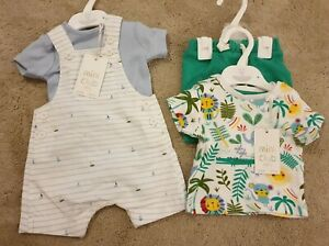 Boots Mini Club Boys Small Baby (7.5lbs) NEW With Tags 2 Outfit Bundle