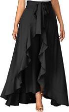 Women Ruffle Palazo Rayon Skirt Black Party Wear Skirt- Free Shipping
