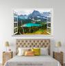 3D Blue River Hill 1048 Open Windows WallPaper Murals Wall Print AJ Carly