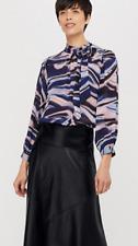 Monsoon Mabel Marble Print Blouse, Size 12, Blue Multi, BNWT