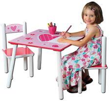 Kindertisch 2 Stühle Spieltisch Kinderstuhl Spielzimmertisch Kinder Tisch Herzen