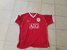 Manchester United Football Club 2006 Red Shirt Nike Aig Size Xxl Mufc