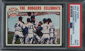 1964 Topps W.S. Summary THE DODGERS CELEBRATE #140 PSA 9 MINT