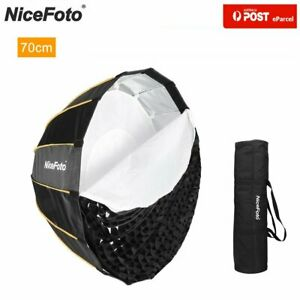 AU NiceFoto 70cm Parabolic Quick Set-up Deep Gird Softbox for Studio Flash Bowen