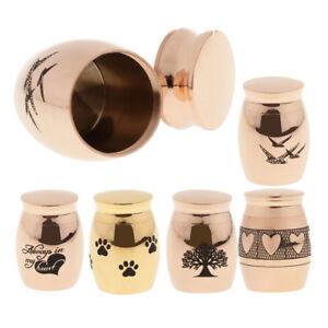 Waterproof Stainless Steel Cremation Urn Memorial Jar Pet Human Ash Casket