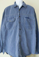 Vintage Distressed Blue MEN's LEVI'S Strauss BUTTON SHIRT Long Sleeve XL