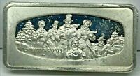 1973 Christmas Franklin Mint ~.925 Sterling Ingot ~2.083 Troy Oz Silver Bar ~