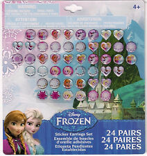 24 pairs stick on earrings FROZEN Disney Princess party gift temporary stickers