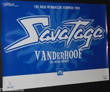 SAVATAGE The Wake Of Magellan Tour Rare Original Official German Tour POSTER