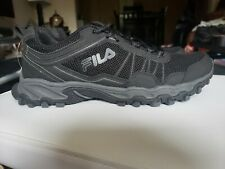 MEN FILA MEMORY FOAM COOLMAX BLACK 10.5 ATHLETIC WALKING TENNIS SHOE  *SAMPLE*
