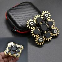 EDC 9 Gear Hand Tri Fidget Spinner Linkage Metal Finger ADHD Focus Bearing Toys