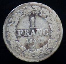 1 FRANC 1844 BELGIQUE / BELGIUM / BELGIE (argent / silver) Leopold premier