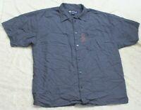 2X Short Sleeve Big Dogs Blue Man's Dress Shirt Men's Button Up Pocket Solid Top