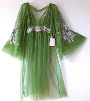 New~$168~Free People~Mermaid Green Tunic Blouse Bohemian Boho Top~Size Medium M